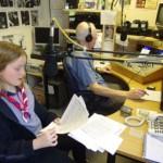 Abbie at Angel Radio